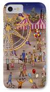 Ferris Wheel At The Carnival IPhone Case by Linda Mears