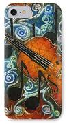 Fiddle 1 IPhone Case by Sue Duda