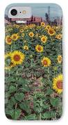 Field Of Sunflowers IPhone Case by Adrian Evans