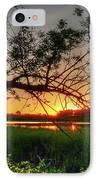 Fiery Swamp Sunset IPhone Case by Deborah Smolinske