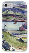 Figure And Kirk   Iona IPhone Case by Francis Campbell Boileau Cadell
