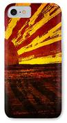 Fire In The Sky IPhone Case by Brenda Bryant
