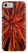Fire In The Sky IPhone Case by Carolyn Marshall