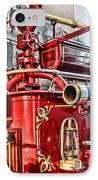 Fireman - Antique Brass Fire Hose IPhone Case by Paul Ward