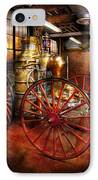 Fireman - One Day A Long Time Ago  IPhone Case by Mike Savad