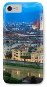 Firenze By Night IPhone Case by Inge Johnsson
