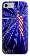 Fireworks At Iwo Jima Memorial IPhone Case by Francesa Miller