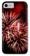 Fireworks Red-white IPhone Case by Katja Zuske