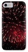 Fireworks Series Ix IPhone Case by Suzanne Gaff