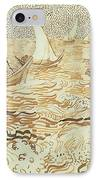 Fishing Boats At Saintes Maries De La Mer IPhone Case by Vincent van Gogh