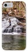 Fishing Mill Creek Falls In West Virginia IPhone Case by Dan Friend