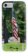 Flag - Illinois Veterans Home - Luther Fine Art IPhone Case
