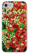 Flamboyant In Bloom IPhone Case by Karin  Dawn Kelshall- Best