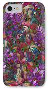 Floral Abstract Stained Glass IPhone Case by Medusa GraphicArt