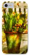 Flower - Daffodil - A Pot Of Daffodil's IPhone Case by Mike Savad
