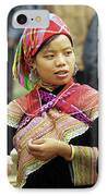 Flower Hmong Women IPhone Case by Rick Piper Photography