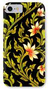 Flower Images Artistic From Thai Painting And Literature IPhone Case
