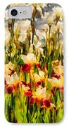 Flower - Iris - Mildred Presby 1923 IPhone Case by Mike Savad