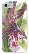 Flower Orchid 10 Elena Yakubovich IPhone Case by Elena Yakubovich