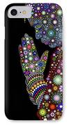 Flower Prayer Girl IPhone Case by Tim Gainey