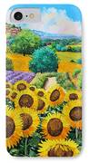Flowered Garden IPhone Case by Jean-Marc Janiaczyk