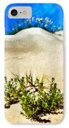 Flowering Dunes - Outer Banks IPhone Case by Dan Carmichael