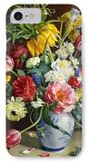 Flowers In A Blue And White Vase IPhone Case