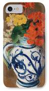 Flowers In A Blue Vase IPhone Case