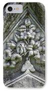 Flowers On A Grave Stone IPhone Case by Edward Fielding