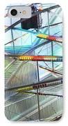 Flying Inside Ferris Wheel IPhone Case by Luther Fine Art