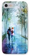 Foggy Day New IPhone Case by Leonid Afremov
