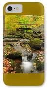 Foot Bridge- Macedonia Brook State Park IPhone Case by Thomas Schoeller