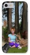 Forest Rendezvous IPhone Case by Jennifer Schwab