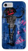 Foundation Number 102 Robot Graffiti  IPhone Case by Bob Orsillo
