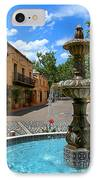 Fountain At Tlaquepaque Arts And Crafts Village Sedona Arizona IPhone Case by Amy Cicconi