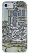 Fountain Of Bacchus IPhone Case by Jeff Swanson