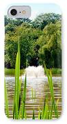 Fountain Side IPhone Case by Greg Fortier