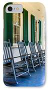 Four Porch Rockers IPhone Case by Perry Webster