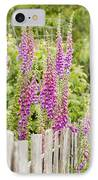 Foxglove Fence IPhone Case by Anne Gilbert