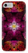 Fractal - Aztec - The All Seeing Eye IPhone Case by Mike Savad