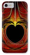 Fractal - Heart - Victorian Love IPhone Case