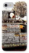 Freedom Of Speech On Wheels IPhone Case by Desiree Paquette