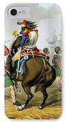 French Cuirassiers At The Battle IPhone Case by John Augustus Atkinson