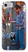French Quarter Artist IPhone Case by Steve Harrington