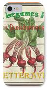 French Vegetable Sign 4 IPhone Case