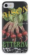 French Veggie Labels 2 IPhone Case by Debbie DeWitt