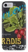 French Veggie Labels 3 IPhone Case by Debbie DeWitt