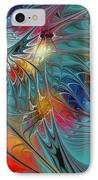 Fresh Mints And Cool Blues-abstract Fractal Art IPhone Case by Karin Kuhlmann
