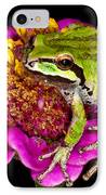 Frog  On Flower IPhone Case by Jean Noren