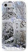 Front Yard Of A House In Winter IPhone Case by Elena Elisseeva